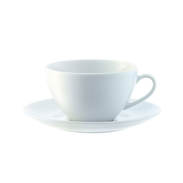 LSA Dine Tea/Coffee Cup & Saucer Curved 0.22L Set Of 4