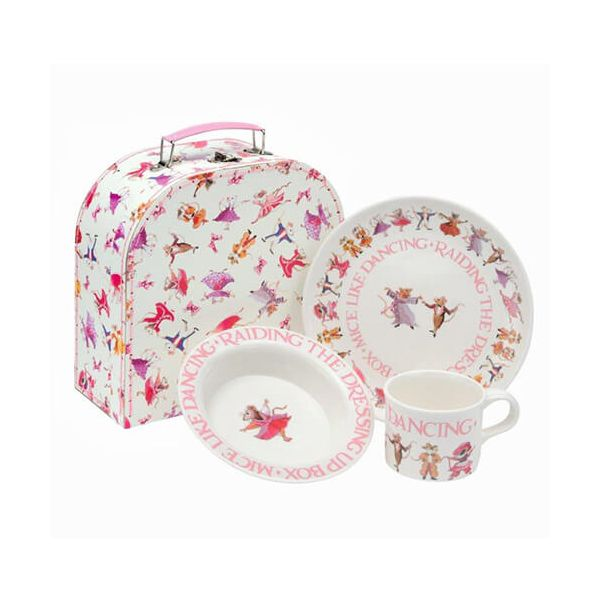 Emma Bridgewater Dancing Mice 3 Piece Melamine Dining Set