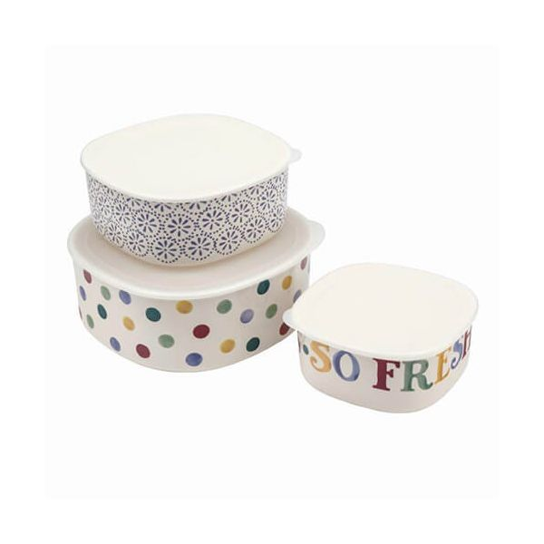 Emma Bridgewater Polka Dot Melamine Storage Containers, Set of 3