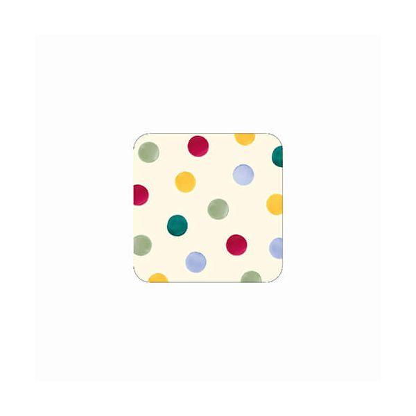 Emma Bridgewater Polka Dot Set of 4 Melamine Coasters