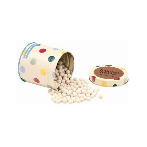Emma Bridgewater Polka Dot Baking Beans in a Tin