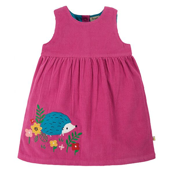 Frugi Organic Foxglove/Hedgehog Lily Cord Dress