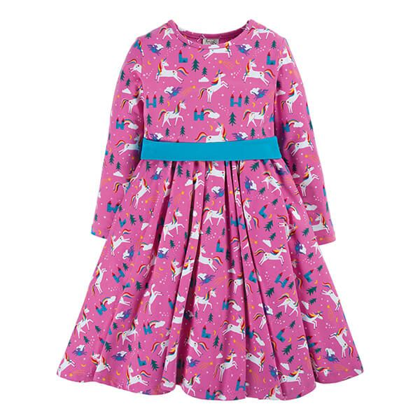 Frugi Organic Unicorns Party Skater Dress