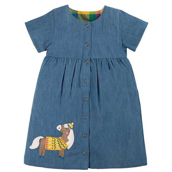 Frugi Organic Chambray/Horse Romilly Reversible Dress