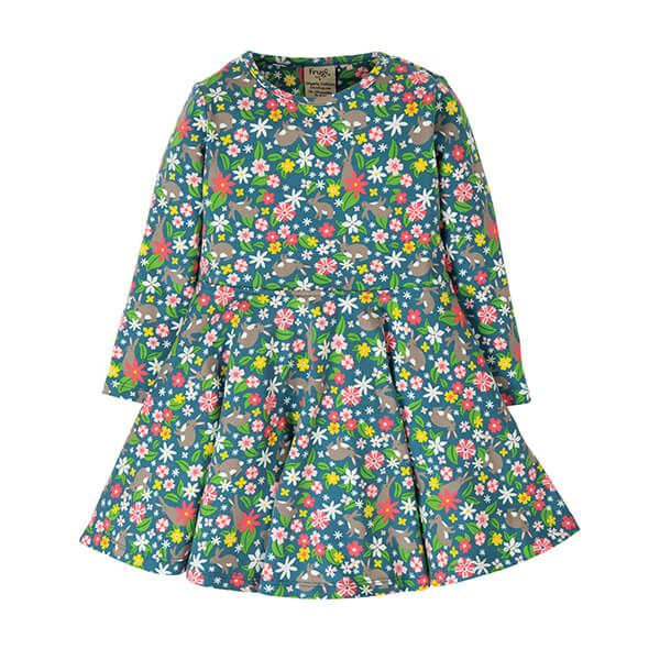 Frugi Organic Little Sofia Skater Dress Rabbit Fields