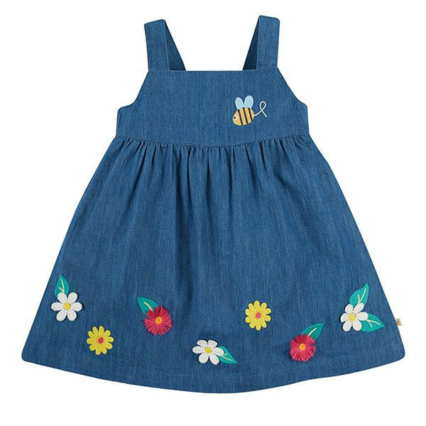 Frugi Organic India Ink/Flowers Hallie Linen Dress