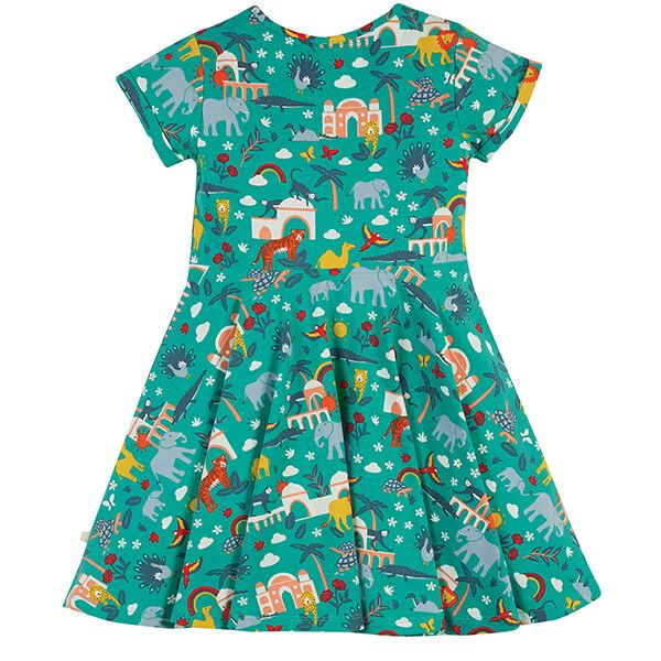 Frugi Organic Jewel India Spring Skater Dress