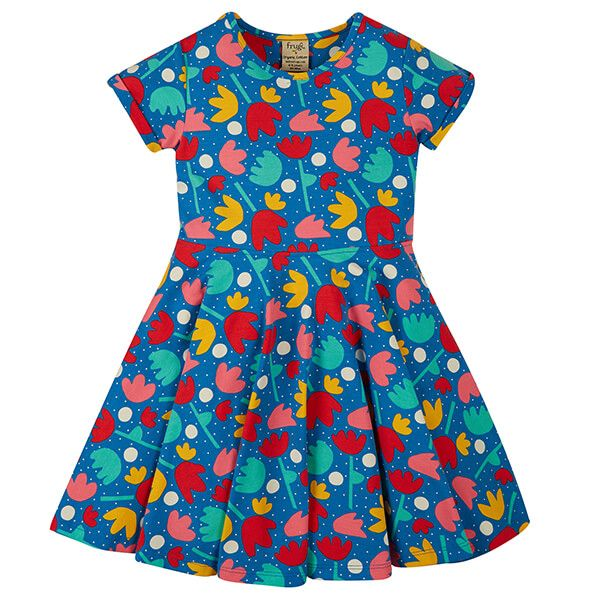Frugi Organic Lotus Bloom Spring Skater Dress