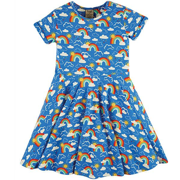 Frugi Organic Rainbow Skies Spring Skater Dress