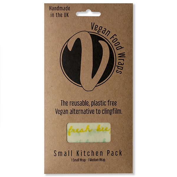 The Vegan Food Wraps Co. Vegan Wax Wrap Small Kitchen Pack
