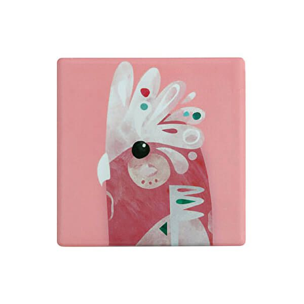 Maxwell & Williams Pete Cromer Ceramic Square 9.5cm Coaster Galah