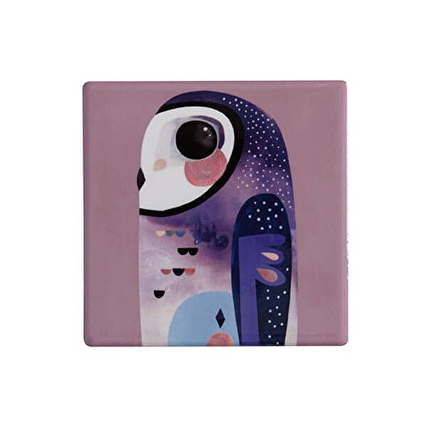 Maxwell & Williams Pete Cromer Ceramic Square 9.5cm Coaster Owl