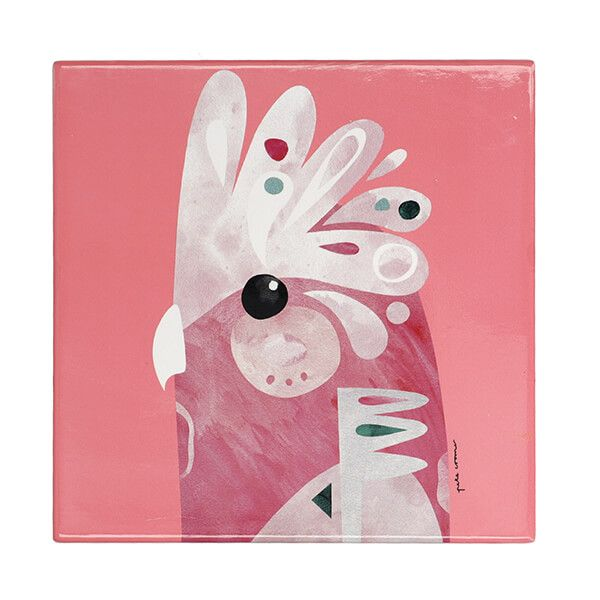 Maxwell & Williams Pete Cromer Galah, 20cm Ceramic Trivet