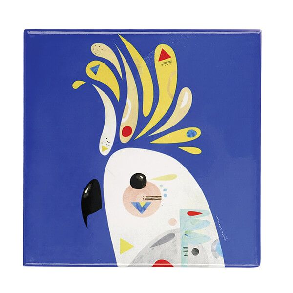 Maxwell & Williams Pete Cromer Cockatoo 20cm Ceramic Trivet