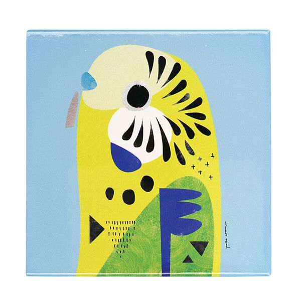 Maxwell & Williams Pete Cromer Budgerigar 20cm Ceramic Trivet