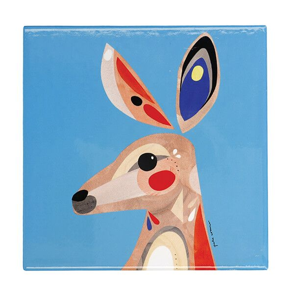Maxwell & Williams Pete Cromer Kangaroo 20cm Ceramic Trivet
