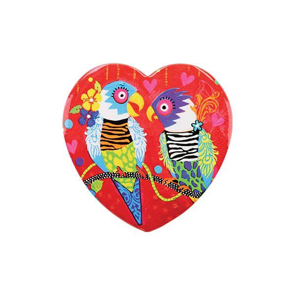 Maxwell & Williams Love Hearts Tiger Tiger 10cm Ceramic Coaster