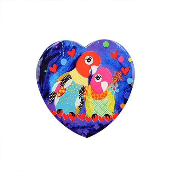Maxwell & Williams Love Hearts Love Birds 10cm Ceramic Coaster