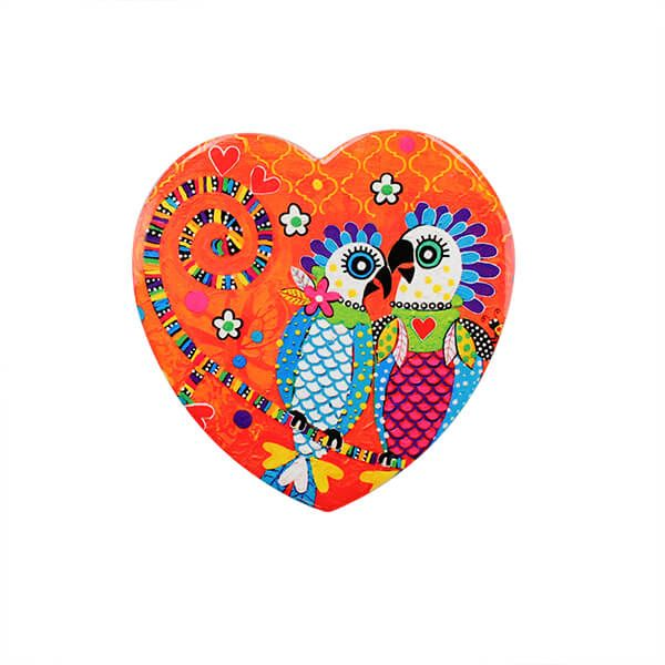 Maxwell & Williams Love Hearts Fan Club 10cm Ceramic Coaster