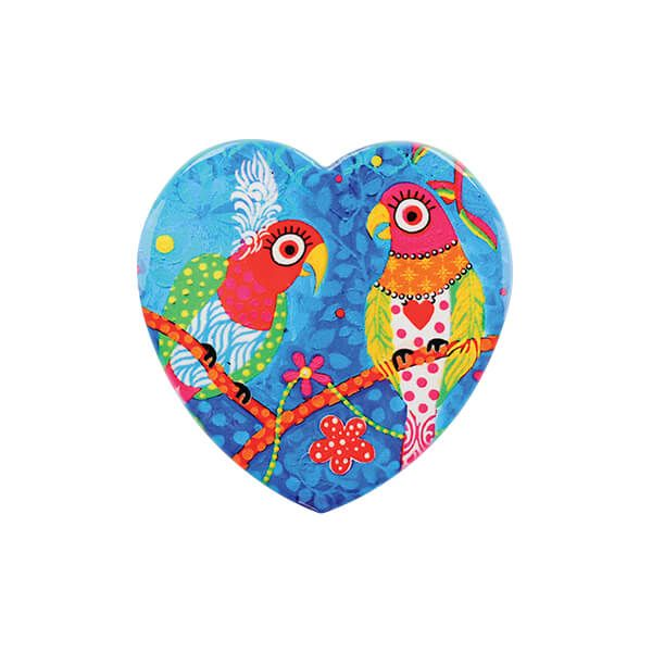 Maxwell & Williams Love Hearts Rainbow Girls 10cm Ceramic Coaster