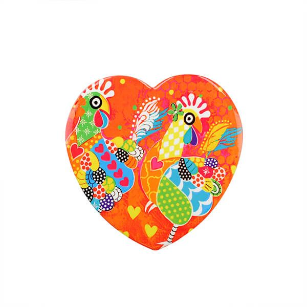 Maxwell & Williams Love Hearts Chicken Dance 10cm Ceramic Coaster
