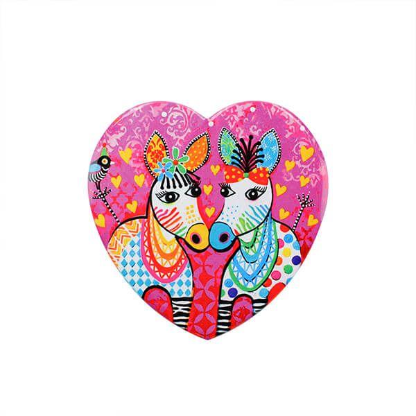 Maxwell & Williams Love Hearts Zig Zag Zeb 10cm Ceramic Coaster