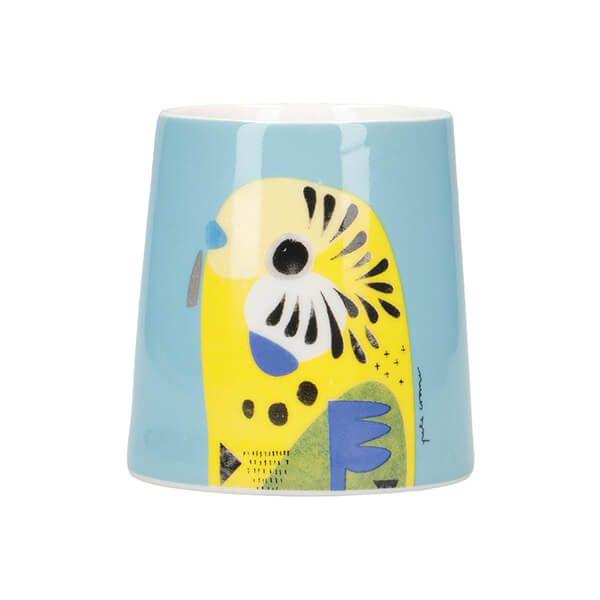 Maxwell & Williams Pete Cromer Porcelain 6cm Egg Cup Budgerigar