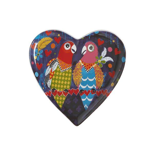 Maxwell & Williams Love Hearts Love Birds 15.5cm Ceramic Plate Gift Boxed