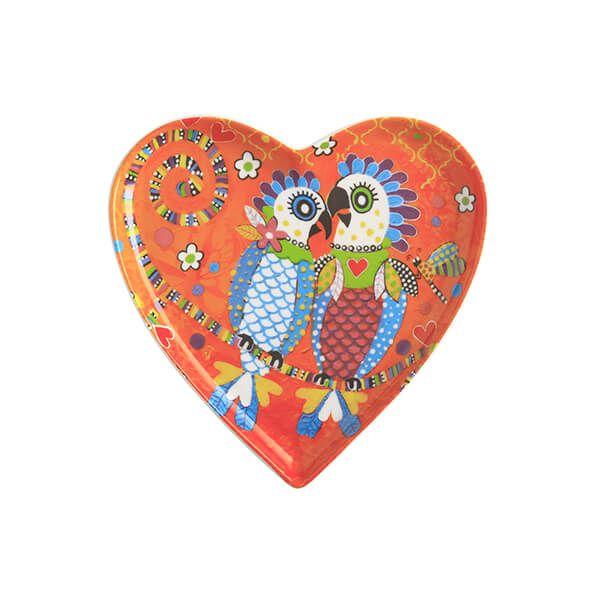 Maxwell & Williams Love Hearts Fan Club 15.5cm Ceramic Plate Gift Boxed