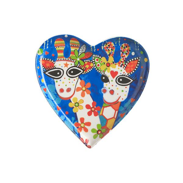 Maxwell & Williams Love Hearts Mr Gee Family 15.5cm Ceramic Plate Gift Boxed