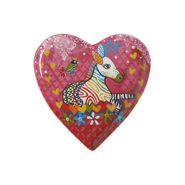 Maxwell & Williams Love Hearts Zig Zag Zeb 15.5cm Ceramic Plate Gift Boxed
