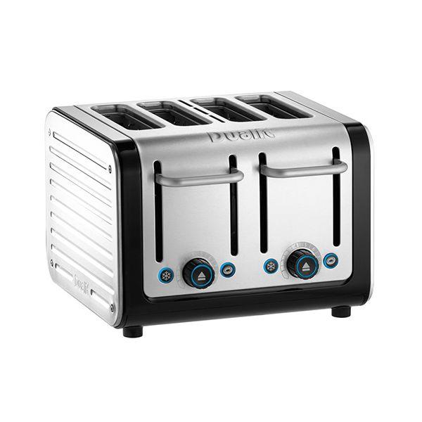 Dualit Architect 4 Slot Black Body With White Panel Toaster