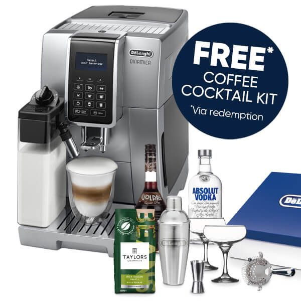 Delonghi Dinamica Cappuccino Bean To Cup Coffee Machine with FREE Gift