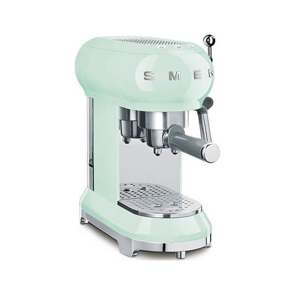 Smeg Espresso Coffee Machine, Pastel Green