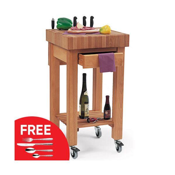 Eddingtons Marlborough Kitchen Trolley with FREE Gift