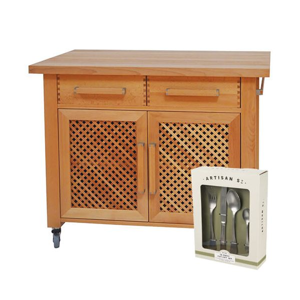 Eddingtons Littlecote Kitchen Trolley with FREE Gift