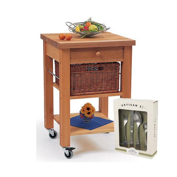 Eddingtons Lambourn Single Drawer Kitchen Trolley with FREE Gift