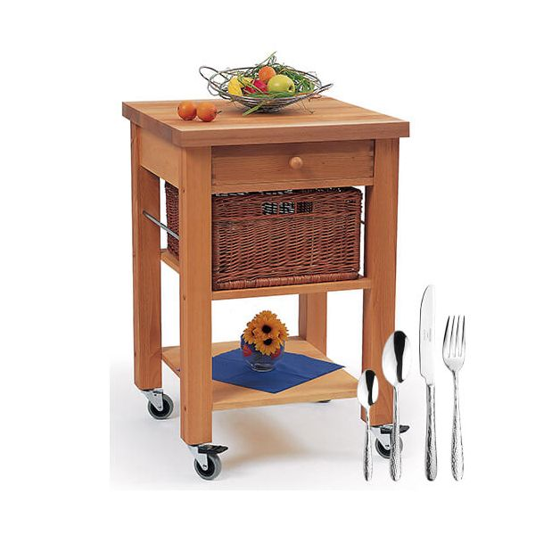 Eddingtons Lambourn Single Drawer Kitchen Trolley with FREE Gift