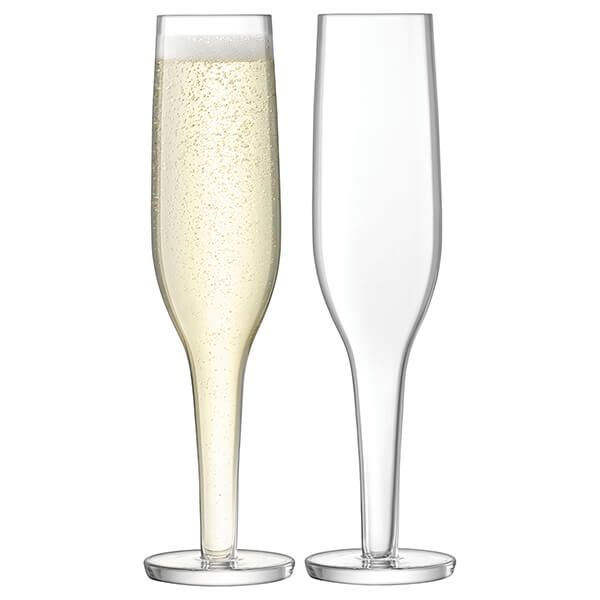 LSA Epoque Champagne Flute 170ml Clear Set Of Two