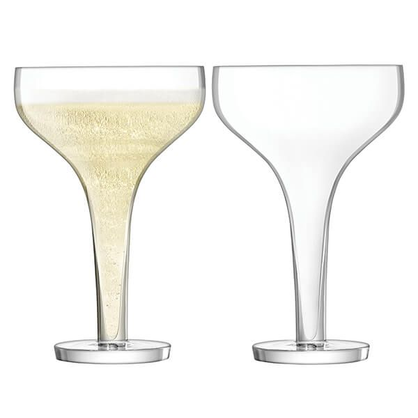 LSA Epoque Champagne Saucer 150ml Clear Set Of Two