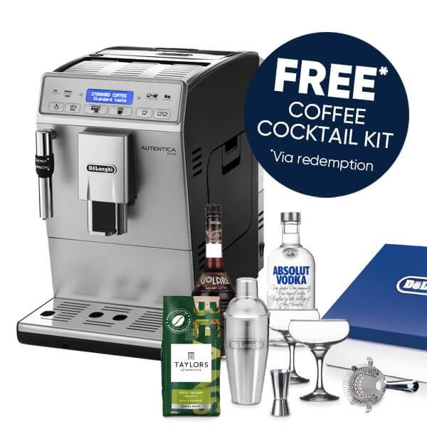 Delonghi Autentica Plus Bean To Cup Coffee Machine with FREE Gift