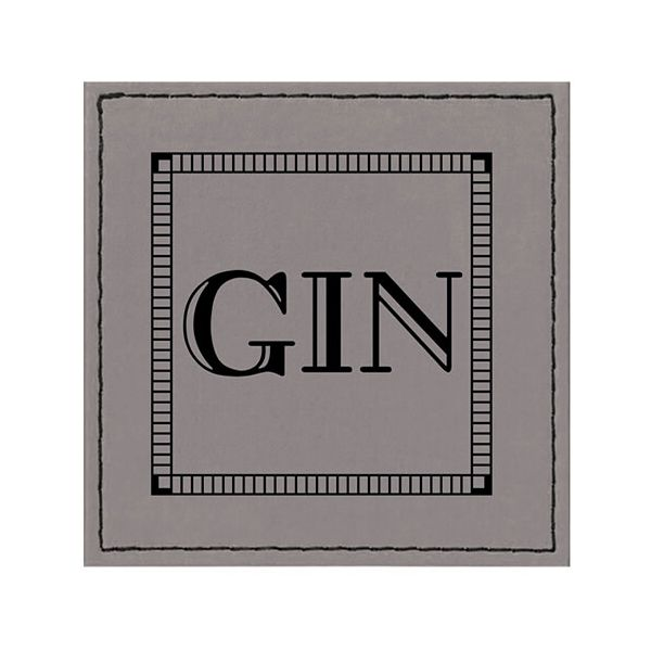 Raising Spirits Grey Faux Leather Gin Coaster