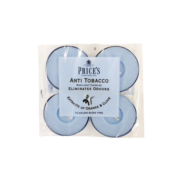 Prices Fresh Air Anti Tobacco Maxi Tealights Pack Of 4