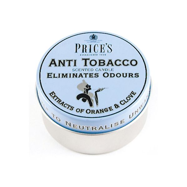 Prices Fresh Air Anti Tobacco Tin Candle