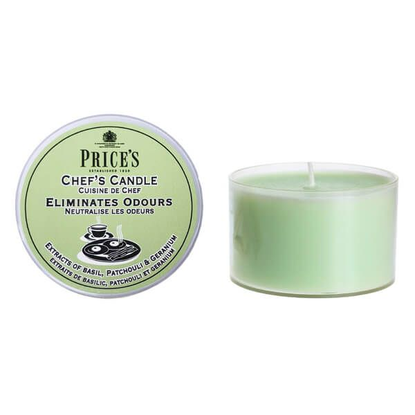 Prices Fresh Air Chefs Tin Candle