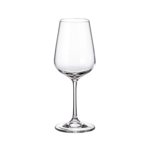 Crystalite Bohemia Strix Set Of 6 White Wine Glasses