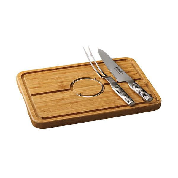Global 2 Piece Carving Set With Carving Board