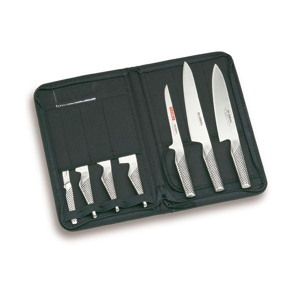 Global G-666/KA 8 Piece Knife Case Set