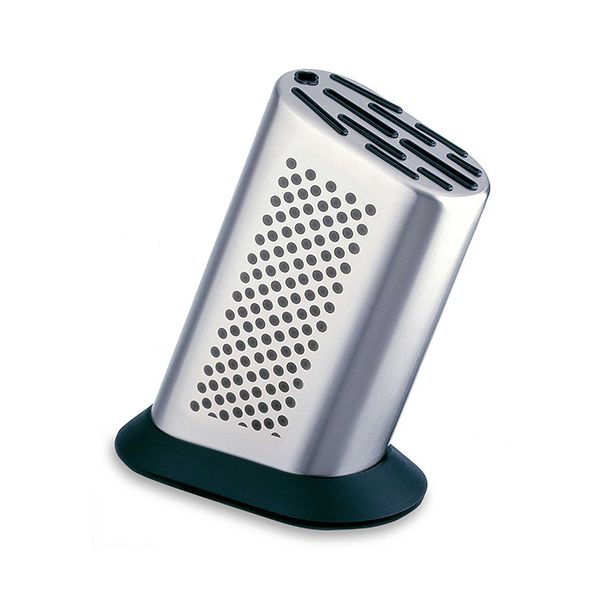 Global G-8311D Stainless Steel Dotted Knife Block For 11 Global Knives