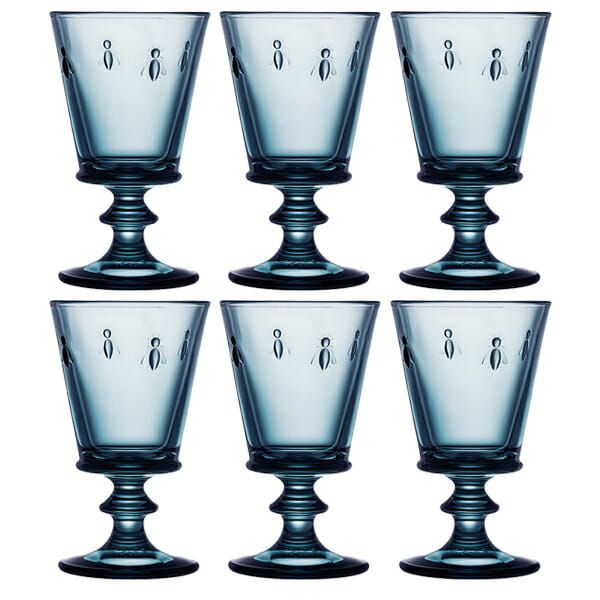 La Rochere Bee Blue Wine Glass 240ml Set Of 6